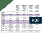 grade 4 daily schedule