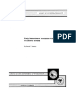 Early Detection of Insulation Failure in Electric Motors