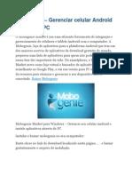 Mobogenie – Gerenciar Celular Android Através Do PC