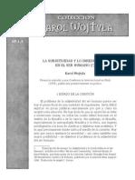 La Subjetivodad y Lo Irreducible Karol Wojtila