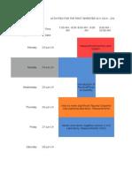 Weekly Lesson Calendar (1st Semester 2014-2015)