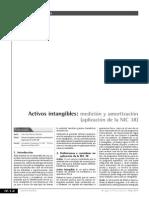 Activos Intangibles Medición y Amortización Aplicación de La NIC 38