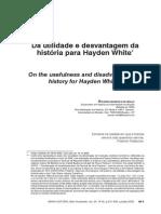 Da utilidade e desvantagem da história para Hayden White - RicaRdO MaRques de MellO