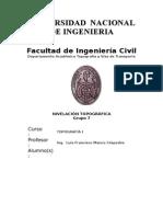 Informe Topo - Nivelación