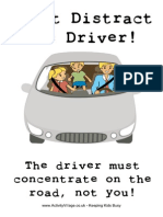 Dont Distract the Driver Poster
