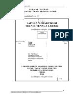 Format Penulisan Laporan LKEL