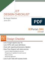 BI Project Design Checklist