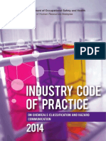 Industry Code of Practice on Chemicals Classification & hazard Communication