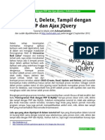 Entri Edit Delete Tampil Dengan PHP Dan Ajax JQuery