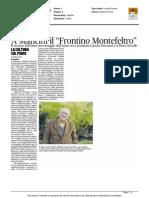 """A Mancini il Premio """"Frontino Montefeltro"""" - Il Corriere Adriatico del 24 settembre 2015"""