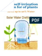 Solar Self-irrigation System for of Plants