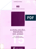 201061732 Livro Hadji Avaliacao Regras Do Jogo Hadji PDF