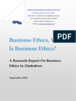 Business Ethics in Zimbabwe Research Report