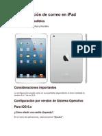 Configuración de correo en iPad