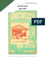 Sri Sai Leela.april1979