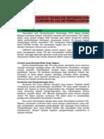 Hakikat Teknologi Informasi Dan Komunikasi Dalam Pembelajaran