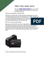 Giới thiệu máy quay Sony