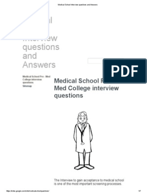 Medical School Interview Questions and Answers | Medical