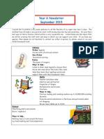 Year 6 Newsletter Autumn 1 2015