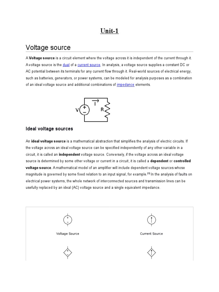 Unit 1 Beee Ac Power Electrical Impedance Thevenin Equivalent Circuit With Current And Voltage Source