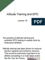Lecture 19 Altitude Training and EPO