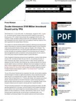 Zscaler Announces $100 Million Investment