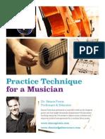 Practice Technique for Musicians
