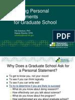 Graduate personal statements