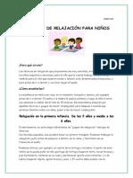 Tecnicas de Relajacion en La Primera Infancia. Web Marzo 2015-1