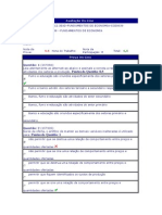 Fundamentos de Economia - (27) - AV1 - 2012.3