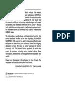 2007 WRX & STI Owners Manual