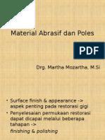 Material Abrasif Dan Poles (Bahan Kuliah)