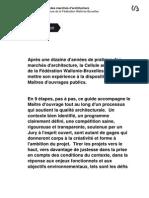 Guide Pratique Des Marchés d'Architecture Belgique