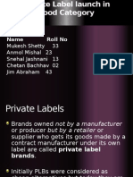 private label launch in food industry