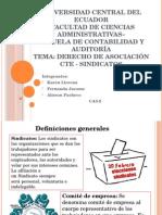 DERECHO DE SINDICATOS