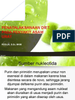 Penatalaksanaan Diet Asam Urat