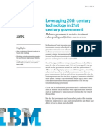 Leveraging 20th centurytechnology in 21stcentury government