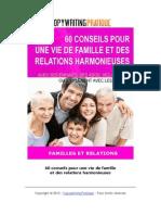 60 Conseils Pour Une Vie de Famille Et Des Relations Harmonieuses