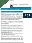 Estructuras y Programacion