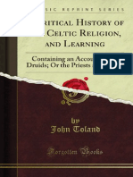 A Critical History of the Celtic Religion and Learning - John Toland