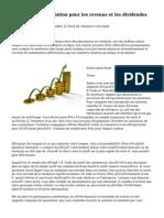 Bourse de négociation pour les revenus et les dividendes