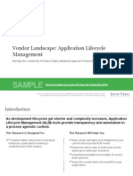 It Application Lifecycle Management Vendor Landscape Storyboard Sample