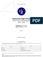 Technology Evaluation and Technology Plan Apalachee High School