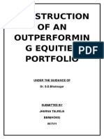 Construction of an Outperforming Equities Portfolio