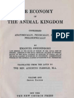 Em Swedenborg the Economy of the Animal Kingdom 1740 1741 Two Volumes Augustus Clissold 1845 1847 the Swedenborg Scientific Association 1955 First Pages