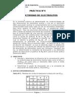 Fisicoquímica II - Conductividad de Electrolitos
