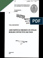 Ash Particle Erosion