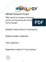 Search for inhibitors of bacterial quorum sensing among the microbiota of marine sponges