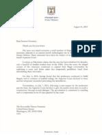 Netanyahu to Feinstein- 08-2015 - Susiya (1)