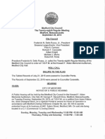 Medford City Council meeting September 29, 2015